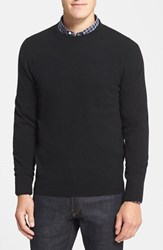 Men's Big And Tall Nordstrom Cashmere Crewneck Sweater Black