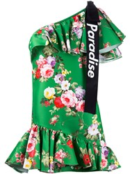 Brognano Single Shoulder Floral Dress Women Viscose Polyester 42 Green
