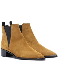 Acne Studios Jensen Suede Ankle Boots Brown