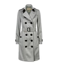 Burberry The Sandringham Cashmere Trench Coat Female Grey