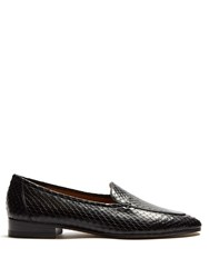 The Row Adam Snakeskin Loafers Black