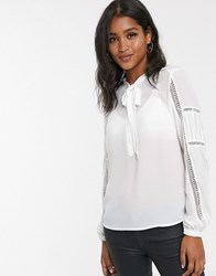 Y.A.S Pussybow Blouse White