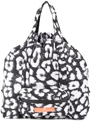 Adidas By Stella Mccartney Leopard Print Gym Bag Black