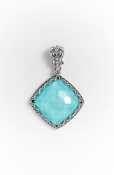 Konstantino 'Aegean' Pendant Silver Turquoise