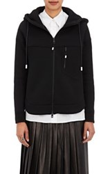 The Reracs Women's Cotton Zip Front Hoodie Black