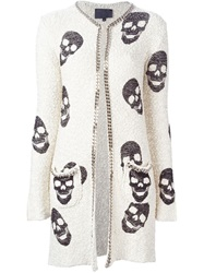 Philipp Plein 'Luisella' Cardi Coat Nude And Neutrals