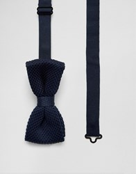 Jack And Jones Bow Tie Knitted Navy