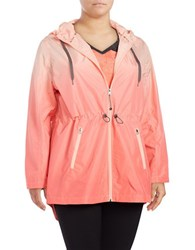 Activezone Long Sleeve Hi Lo Hooded Jacket Pink