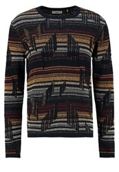 Minimum Miramar Jumper Dark Navy Multicoloured