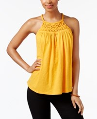 Cable And Gauge Cotton Halter Top Cadmium Yellow