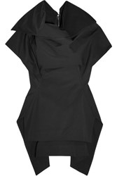 Rick Owens Judith Stretch Cotton Poplin Top Black