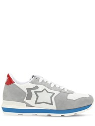 Atlantic Stars Antares Suede And Nylon Sneakers White