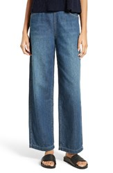 Vince Women's High Rise Side Zip Wide Leg Ankle Jeans