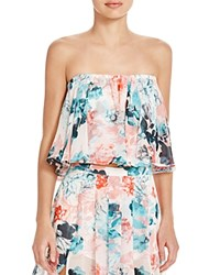 Lovers Friends Strapless Floral Crop Top Paradise Floral
