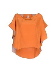 Uniqueness Blouses Orange