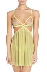 Women's Honeydew Intimates 'Lucy' Open Cup Babydoll And G String Cali Kissed