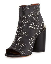 Givenchy Edgy Studded Peep Toe Bootie Black Men's Size 36.5B 6.5B