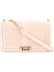 Rebecca Minkoff Quilted Cross Body Bag Pink Purple