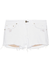Rag And Bone Mila Distressed Cut Off Twill Shorts