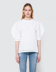 J.W.Anderson Puff Sleeve Top W Trim White