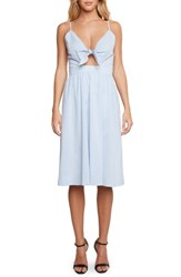 Willow And Clay Brenda Tie Front Dress Chambray