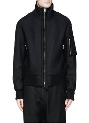 Rag And Bone 'Beckett' Wool Melton Jacket Black