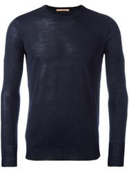 Nuur Crew Neck Jumper Blue