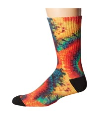 Vans Tie Dye Crew Socks Tie Dye Men's Crew Cut Socks Shoes Pink