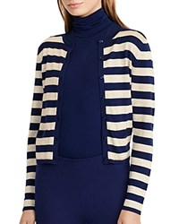 Ralph Lauren Metallic Stripe Cardigan Navy Gold