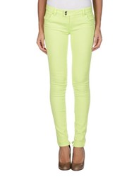 Met And Friends Denim Denim Trousers Women Acid Green