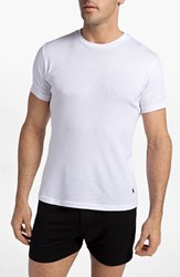 Polo Ralph Lauren Men's Big And Tall 2 Pack Cotton Crewneck T Shirt White White