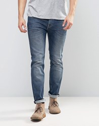Lee Jeans Rider Stretch Skinny Jeans In Blue Gloss Blue