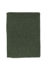Topshop Soft Knitted Scarf Green