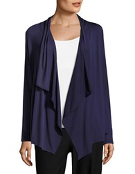 Ivanka Trump Pleated Flyaway Cardigan Evening Blue