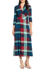 Chaus Banner Plaid Maxi Dress Ladybug