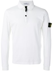 Stone Island Long Sleeve Polo Shirt White