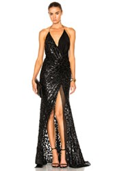 Alexandre Vauthier Lurex Leopard Gown In Black Animal Print Black Animal Print