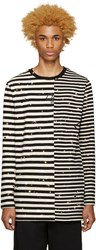 Off White Black And Striped T Shirt