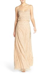 Women's Candela 'Marseille' Beaded Blouson Gown Blush
