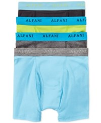 Alfani Men's Knit Boxer Briefs 4 Pack Only At Macy's Aqua Lime