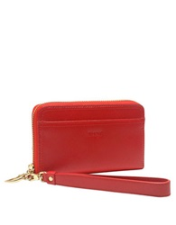 Tusk Madison Leather Smartphone Wristlet Coral