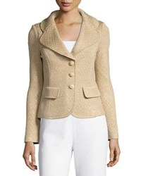 St. John Chevron Knit Blazer Multi Pattern