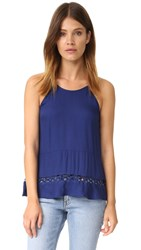 Ella Moss Stella Sleeveless Blouse Navy