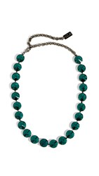 N 21 No. Strass Necklace Green