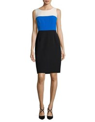Nipon Boutique Colorblocked Sleeveless Sheath Dress Imperial Blue