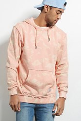 Forever 21 Quintin Bleach Dyed Hoodie Pink