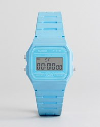 Casio F 91Wc 2Aef Digital Silicone Watch In Blue Blue