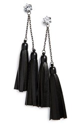 Sole Society Women's Tassel Earrings Black