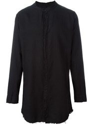Thom Krom Band Collar Shirt Black