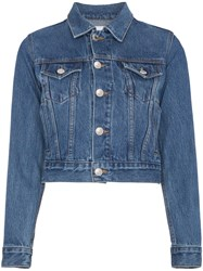 Re Done Classic Trucker Jacket Cotton Blue